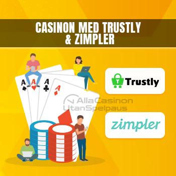 Casinon med Trustly och Zimpler